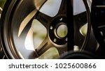 second hand alloy wheels in... | Shutterstock . vector #1025600866