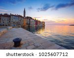 beautiful sunset at rovinj in... | Shutterstock . vector #1025607712