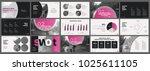 pink presentation templates... | Shutterstock .eps vector #1025611105