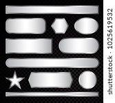 silver vector label frame eps 10   Shutterstock .eps vector #1025619532