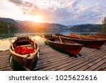 traditional wooden boats pletna ...   Shutterstock . vector #1025622616
