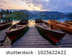 traditional wooden boats pletna ...   Shutterstock . vector #1025622622
