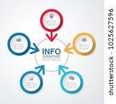 vector infographic template for ... | Shutterstock .eps vector #1025627596