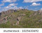 lookout tower on black elk peak ... | Shutterstock . vector #1025633692