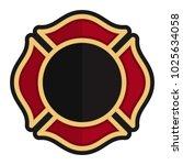 fire fighter emblem.... | Shutterstock .eps vector #1025634058