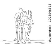 sketch family with children on... | Shutterstock . vector #1025646535