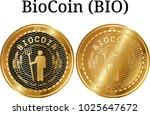 set of physical golden coin... | Shutterstock .eps vector #1025647672