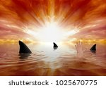 shark infested waters | Shutterstock . vector #1025670775