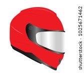 red motor racing helmets with... | Shutterstock .eps vector #1025671462