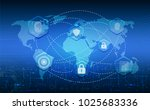 cyber security protection...   Shutterstock .eps vector #1025683336