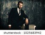 portrait of a handsome man in... | Shutterstock . vector #1025683942
