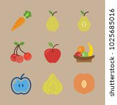icons fruits with pear  fruits  ... | Shutterstock .eps vector #1025685016