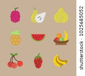 icons fruits with quince ... | Shutterstock .eps vector #1025685052