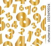 abstract numbers golden...   Shutterstock .eps vector #1025690026