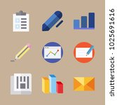 icons letter and paper with... | Shutterstock .eps vector #1025691616