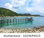 people on the wooden bridge at... | Shutterstock . vector #1025694415
