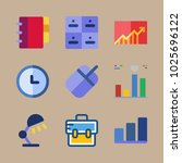 icons business with graphic ... | Shutterstock .eps vector #1025696122
