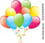 balloons color balloon glossy... | Shutterstock .eps vector #1025696995