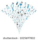 chemistry tubes burst fountain. ... | Shutterstock .eps vector #1025697832