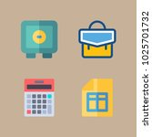 icons banking with box  paper ... | Shutterstock .eps vector #1025701732