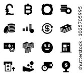 solid vector icon set   pound... | Shutterstock .eps vector #1025705995