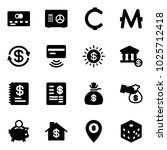 solid vector icon set   credit... | Shutterstock .eps vector #1025712418