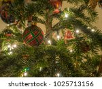 christmas ornaments are...   Shutterstock . vector #1025713156