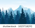 vector illustration   landscape ... | Shutterstock .eps vector #1025718292