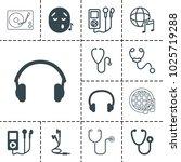 listen icons. set of 13...   Shutterstock .eps vector #1025719288