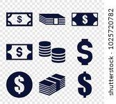 salary icons. set of 9 editable ... | Shutterstock .eps vector #1025720782