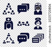 talking icons. set of 9... | Shutterstock .eps vector #1025720806