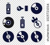 dvd icons. set of 9 editable... | Shutterstock .eps vector #1025721016