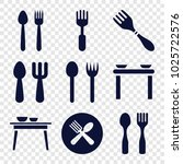 diner icons. set of 9 editable... | Shutterstock .eps vector #1025722576