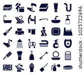 hygiene icons. set of 36... | Shutterstock .eps vector #1025722696
