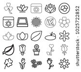 floral icons. set of 25... | Shutterstock .eps vector #1025722852