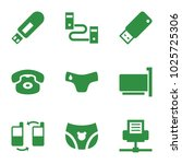 connect icons. set of 9... | Shutterstock .eps vector #1025725306