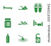 relax icons. set of 9 editable... | Shutterstock .eps vector #1025725942