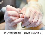 manicure in process | Shutterstock . vector #1025726458