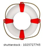 3d Rendering Of Lifebuoy With...