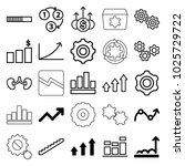 progress icons. set of 25...   Shutterstock .eps vector #1025729722