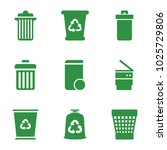 recycling icons. set of 9... | Shutterstock .eps vector #1025729806