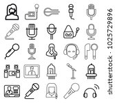 microphone icons. set of 25... | Shutterstock .eps vector #1025729896