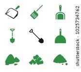 dirt icons. set of 9 editable...   Shutterstock .eps vector #1025734762