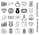 rich icons. set of 25 editable... | Shutterstock .eps vector #1025734846