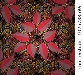 retro textile design collection.... | Shutterstock .eps vector #1025738596