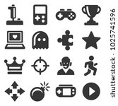 video game and controller icons ... | Shutterstock .eps vector #1025741596