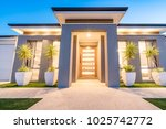 front elevation of a new modern ... | Shutterstock . vector #1025742772
