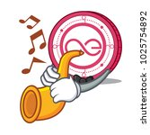 with trumpet aeternity coin... | Shutterstock .eps vector #1025754892