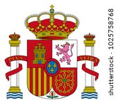 accurate coat of arms of spain. ... | Shutterstock .eps vector #1025758768