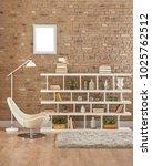 decorative reading corner and... | Shutterstock . vector #1025762512